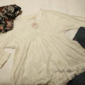 NWT Odd Molly Endless Journey Babydoll Blouse